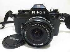 Nikon Em 35mm Slr Film Camera with Series E 28mm 1 : 2.8 Lens Only $0.01! 👀🔥