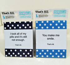 "Refrigerator Magnets ""That's All Magnets"" Lot of 2 Humorous Thoughtful Messages"