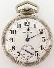 `.MINTY / EXTREMELY NICE 1922 HAMILTON 992 16S 21J DOUBLE ROLLER POCKET WATCH.