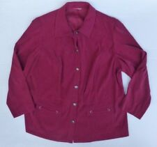 Womens Size X-Large Vivid Burgundy Button Down Jacket Excellent Condition