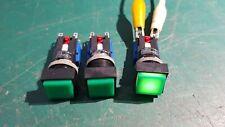 Push Switch Latching 5A 250v AC ILLU Green 513008 Swiss Made Reinch