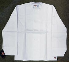 Dickies Chef Coat Jacket White Button Front Uniform Small Restaurant New