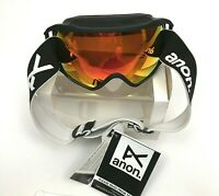 New ANON Circuit Goggles Men's Sonar Red Zeiss Lens Black Frame VLT 14%
