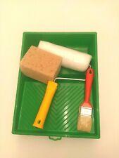 Kit Rullo pittura con pennello spugna e vaschetta in plastica KIT COMPLETO 4PZ