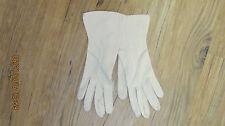 Vintage Amerdos Beige Ladies Dress Gloves Size 5 1/2 Nice Condition