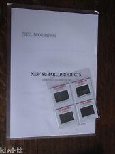 SUBARU NEW products 1998 Paris Motor Show Press Information