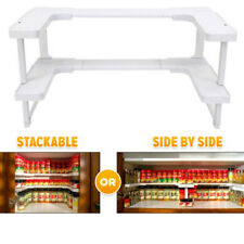 Kitchen Spicy Shelf Spice Rack Stackable Organizer Jar Bottle Storage Cupboard