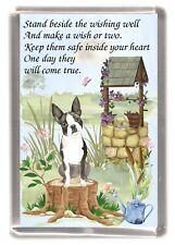 "Boston Terrier Dog Large Fridge Magnet (60 x 90mm) ""WISHING WELL POEM"""