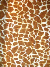 "Quilting Treasures With ""Safari "" Orang Giraffe On An Off White Background"" Bty"