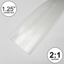 "1.25"" ID Clear Heat Shrink Tube 2:1 ratio 1-1/4"" wrap (10 feet) inch/ft/to 30mm"