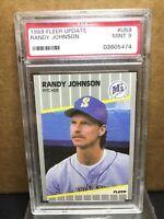 1989 FLEER UPDATE #U59 RANDY JOHNSON HOF ROOKIE CARD PSA 9 MINT
