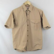 C.C Filson Co Seattle Button Front Shirt Size M Brown /w Hidden Chest pocket