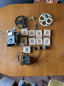 Vintage Pathescope 9.5 mm Ace Projector with Accessories inc 9 x Films in Boxes