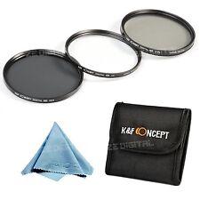 55mm Lens Filter Kit UV CPL Circular Polarizer ND4 for Sony Alpha A300 A390 A580