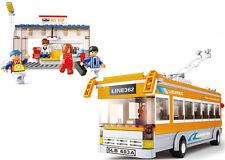 ELECTRIC BUS Large Set 457 pcs Trolley Bus Stop COMPATIBLE BRICKS Trolleybus