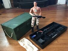 Vintage 1993 GI Joe Storage Locker Carry Case  & 1996 Figure w Guns Accessories