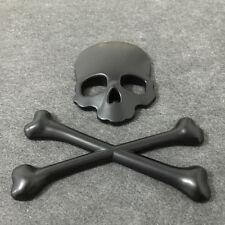 Hot Skull Skeleton Car Motorcycle Decal 3D Metal Sticker Emblem Badge Logo Cool