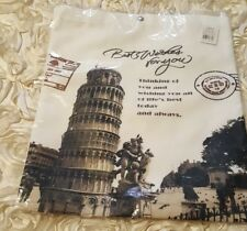 Tote Bag Leaning Tower of Pisa Canvas Tote Bag, NEW Holiday Gift   . (A/299)