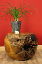 Table d'appoint basse bois en de TECK wonzimmertisch tronc d'arbre Racine bille