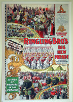 XL,HIQ Facsimile of Ringling Brothers 1899 Circus Parade Poster 36 x 24