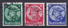DR Mi Nr. 479 - 481, gestempelt, Reichstag Potsdam Deutsches Reich 1933, used