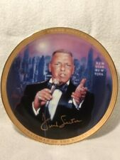 New York Frank Sinatra Porcelain Plate That Plays Music