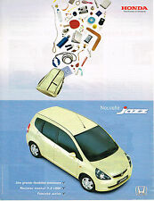 PUBLICITE ADVERTISING 104  2002  HONDA  JAZZ  1.2  i DSI