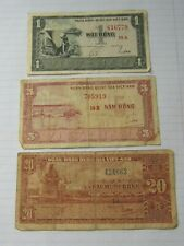 3 Pcs South Vietnam Notes 1955
