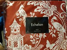 Echelon Pagoda King Duvet Cover Set, Cinnabar