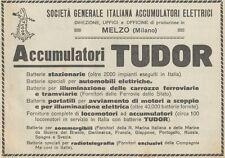 Z1803 TUDOR - Batterie Stazionarie - Pubblicità d'epoca - 1923 Old advertising