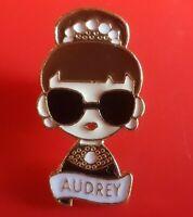 Audrey Hepburn Pin Fashion Movie Icon Enamel Brooch Badge Lapel Cosplay