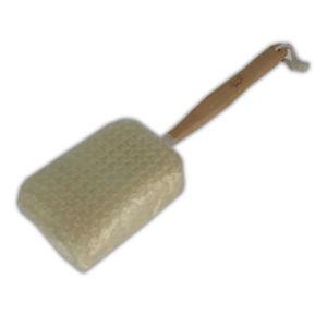 LONG WOODEN HANDLE SISAL SPA BACK SCRUB - SCRUBBER BRUSH SKIN CLEANING SHOWER