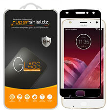 2X Supershieldz Moto Z2 Play Full Cover Tempered Glass Screen Protector
