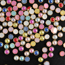 200PCS/Bag 3D 4m Nail Art Acrylic Decor Bling Rhinestone Pearl Charms Tips DIY