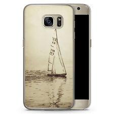 Samsung Galaxy S7 Hard Case Hülle - Vintage Segelboot See Segeln Schiff Motiv D