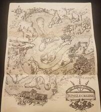 Disneyland California Jungle Cruise Ride Map New, Rare Disney