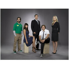 Chuck (TV Series) Zachary Levi as Chuck Bartowski Seated Cast 8 x 10 inch photo