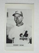 Rare 1970  Bobby Wine  Montreal Expos 5 x 8 Glossy Photo Scarce FLASH SALE