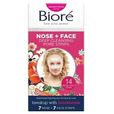 Biore Deep Cleansing Pore Strips 14 count 7 Nose+7 Face Strips Blackhead Removal