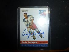 2001 TOPPS HERITAGE ANDY BATHGATE AUTOGRAPH