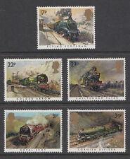 GB 1985 Famous Trains / Railways SG1272 - 1276 Complete Set Unmounted Mint
