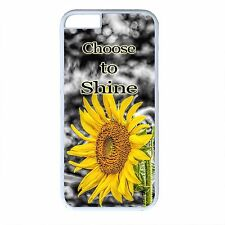 For iPhone 4s 5s 5c 6 6s Plus Sunflower Flowers Style Case Life Quote Back Cover