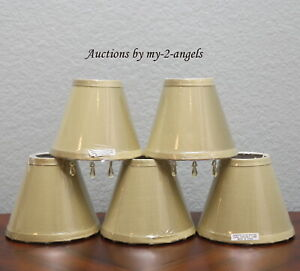 Set/5 Pottery Barn BEADED DUPIONI SILK CHANDELIER LAMP SHADES * CELADON GREEN