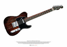 George Harrison's Rosewood Fender Telecaster ART POSTER A2 size