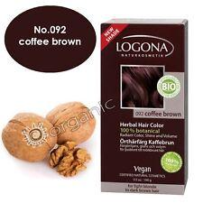 Logona Organic Coffee Brown Herbal Hair Colour 100g Brand NEW