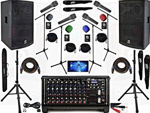 Professional Sound System, pro karaoke system, pa system, band system, PEAVEY