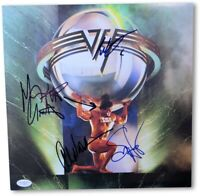 Van Halen Band Signed Autographed Record Album Cover Hagar Anthony JSA X10014