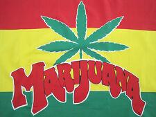 Nos! 90s vtg Marijuana weed pot banner Flag Art poster Tapestry rasta Jamaica