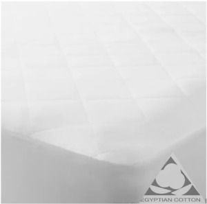 Extra Deep 4C0M Quilted Mattress Protector 100% Cotton Single Double King Sheets