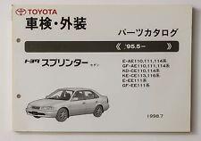 06677 Toyota Genuine Parts Catalog Japanese List SPRINTER #52144-98 1998